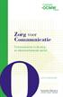 Zorg voor communicatie